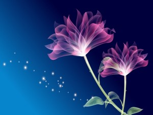 Postal: Flores digitales
