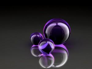 Esferas púrpura