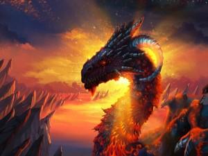 Gran dragón de fuego