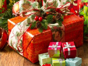 Postal: Regalos para Navidad