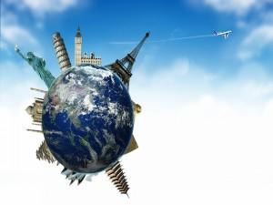 Postal: Viajar por el mundo