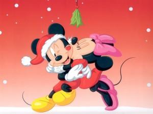Mickey y Minnie en Navidad