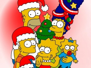 Postal: Navidad Simpson