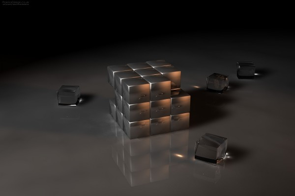 Cubo de Rubik de cristal