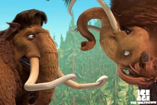 "Mamuts en ""Ice Age 2"""