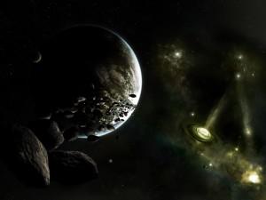 Postal: Enjambre de asteroides