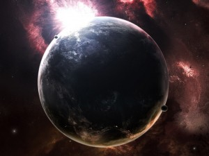 Postal: Amanecer sobre el planeta