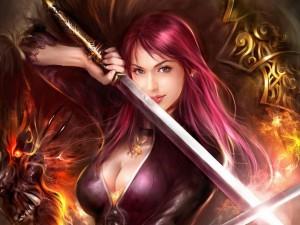Postal: La bella guerrera