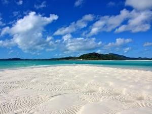 Postal: Playa de arena blanca