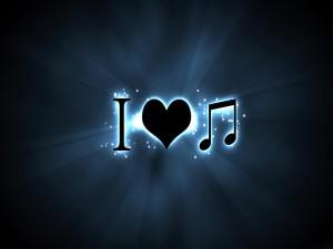 Postal: Yo amo la música