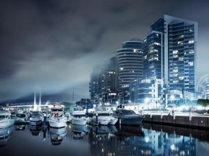 Barcos en el puerto deportivo
