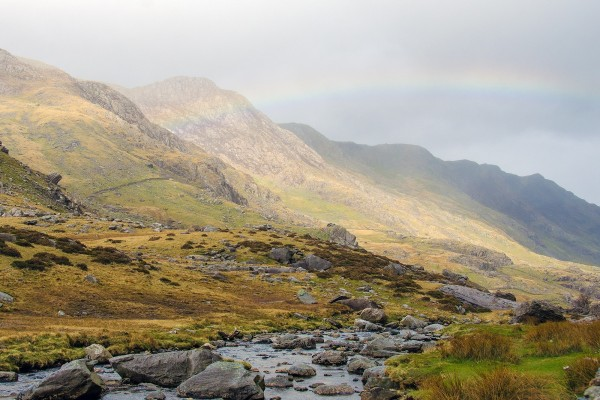 Arcoíris en la montaña