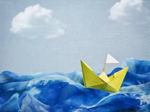 Postal: Barco de papel