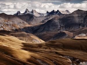 Postal: Montañas áridas
