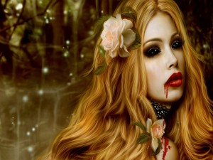 Bella mujer vampiro