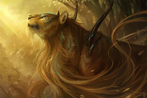 Leona de pelo largo