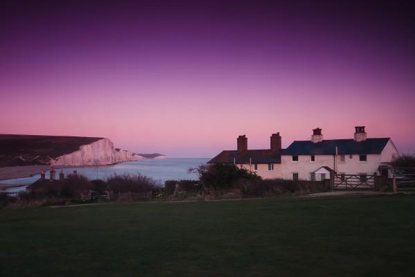 Casas cerca del mar