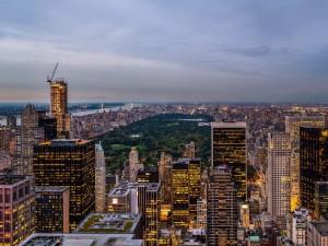 Vista desde el Rockefeller Center, en la Ciudad de Nueva York