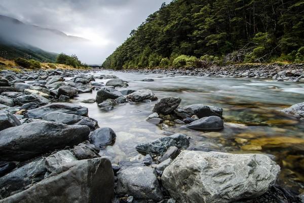 Río Bealey, Nueva Zelanda