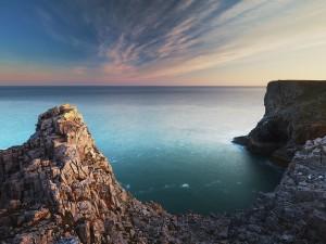 Los acantilados de Pembroke, Gales del Sur