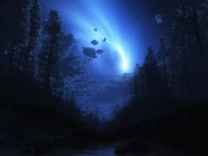 Postal: Una luz en el cielo