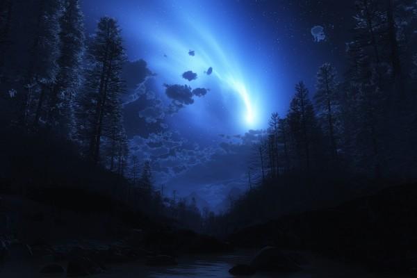 Una luz en el cielo
