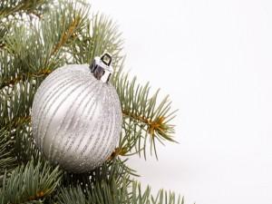 Adorno navideño de color plata