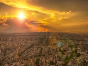 Postal: París al amanecer