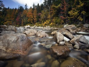 Postal: Rocas en el río