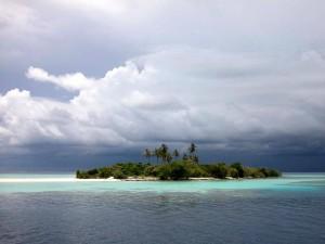 Una isla en el océano