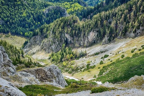 La vertiente sur de Schneeberg, Austria