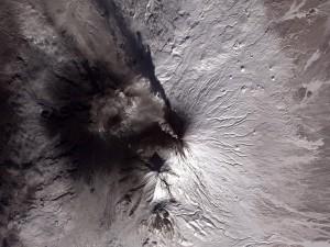 Un huracán visto desde el espacio