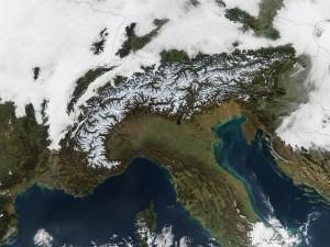 Los Alpes desde el espacio