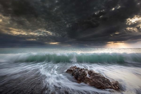 Olas, mar y cielo