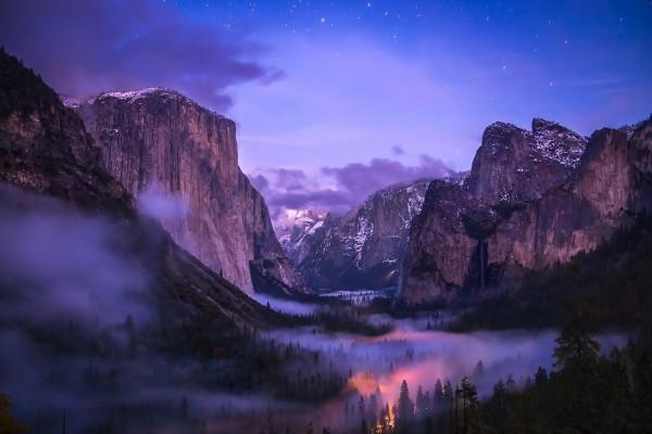 Niebla en el Parque Nacional de Yosemite