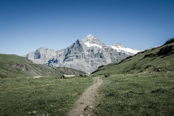 Camino hacia la montaña