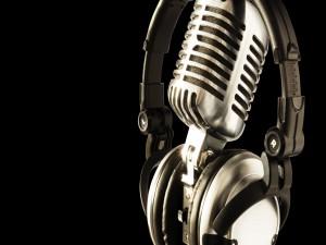 Micrófono y auriculares