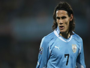 Postal: Edinson Cavani (selección de Uruguay)