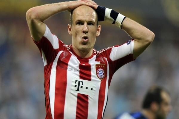 Arjen Robben como centrocampista en el Bayern de Múnich