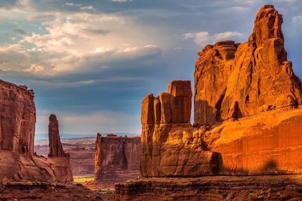 """Vista del """"Parque nacional de los Arcos"""" en Utah"""