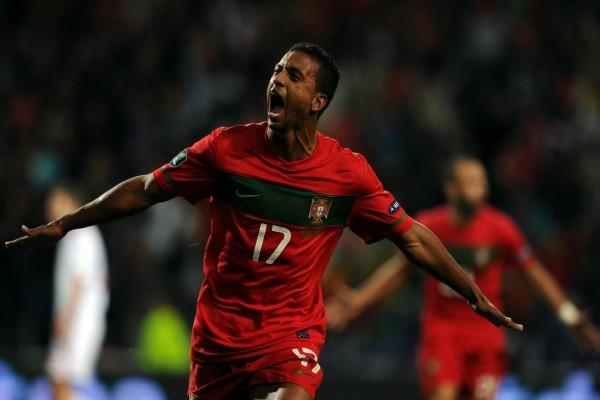 Luís Carlos Almeida da Cunha (Nani), con la selección de Portugal