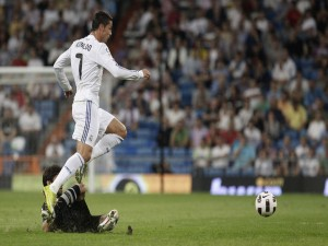 Postal: Cristiano Ronaldo (CR7) con el Madrid