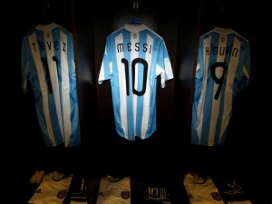 Postal: Camisetas de fútbol