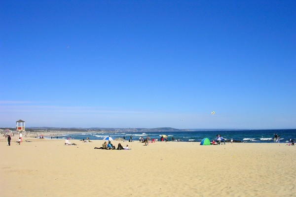 Playa en primavera