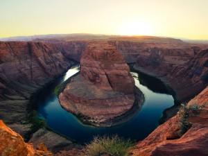 Postal: Curva de la Herradura (Arizona)