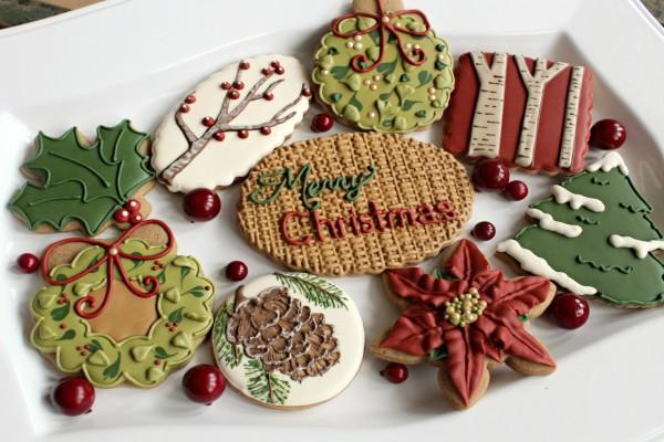 Preciosas galletas decoradas para Navidad
