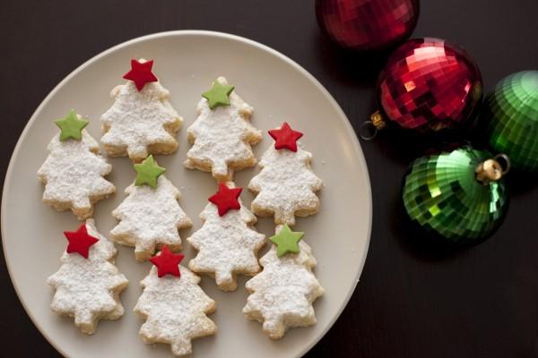 Galletas de árboles de Navidad