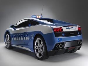 Postal: Lamborghini Gallardo, coche de policía en Italia