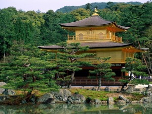 Kinkaku-ji (Templo del Pabellón de Oro) en Kioto, Japón