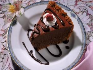 Postal: Tarta de chocolate